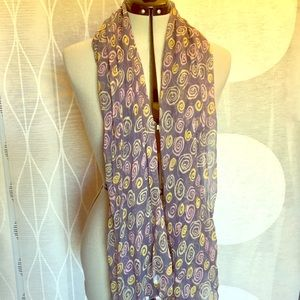 Barney's of New York sheer patterned scarf
